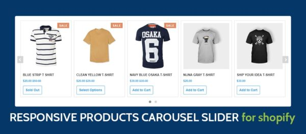 Responsive Product Carousel Slider Widget for Shopify Online Store